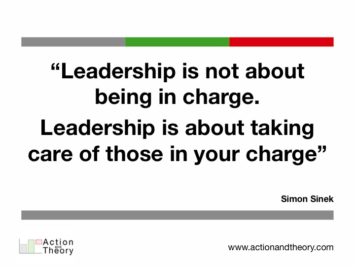 Leadership is not about being in charge