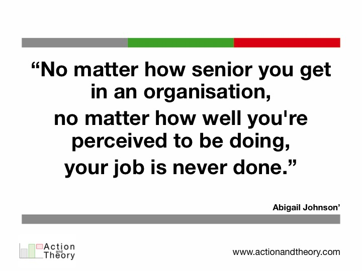 No matter how senior you get in an organisation