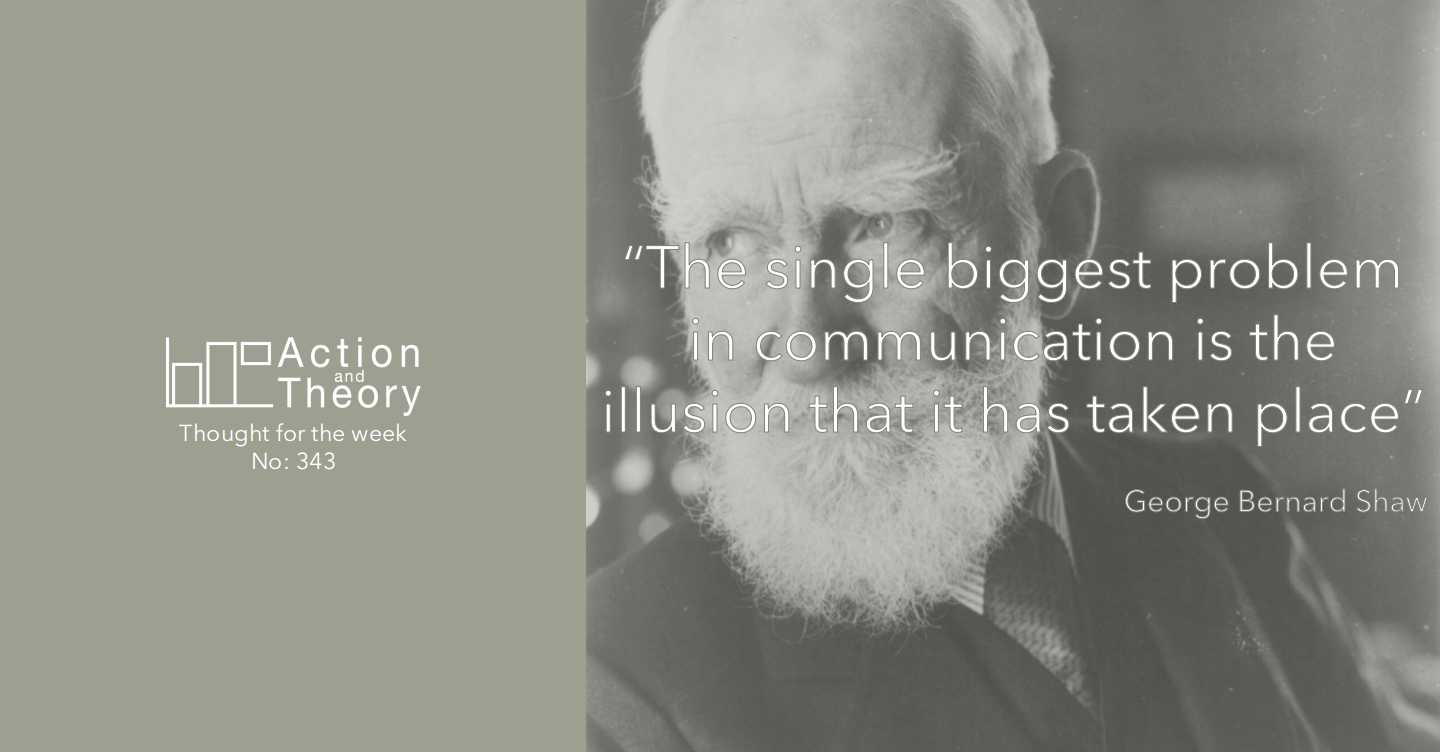 The single biggest problem in communication