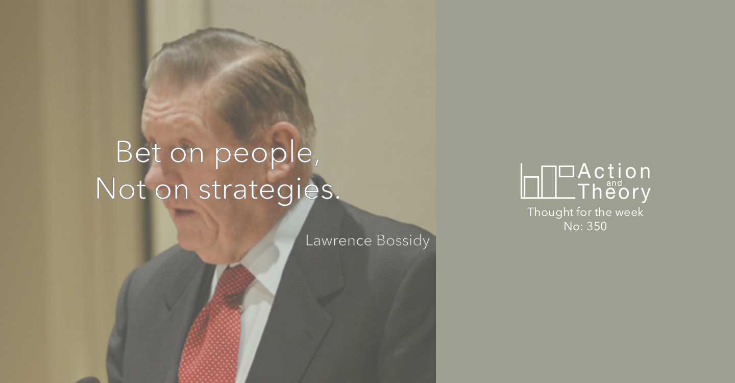 Lawrence Bossidy, retired CEO of AlliedSignal